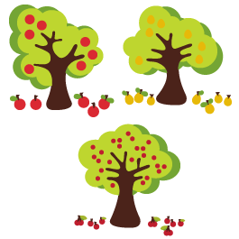 Fruits Trees wall decals