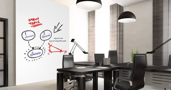 Whiteboard & Colored Dry Erase Decals -Home & Office
