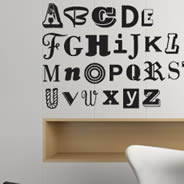 Funny Alphabet wall decals