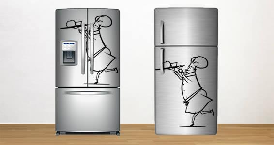 Running chef decal fridge skins