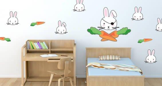 Funny Rabbits wall decals