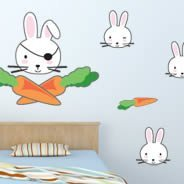 Funny Rabbits wall decals
