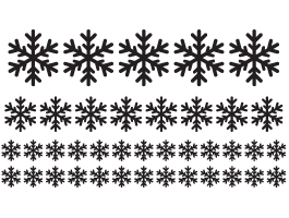 My Funny Snowflakes Pack wall decal