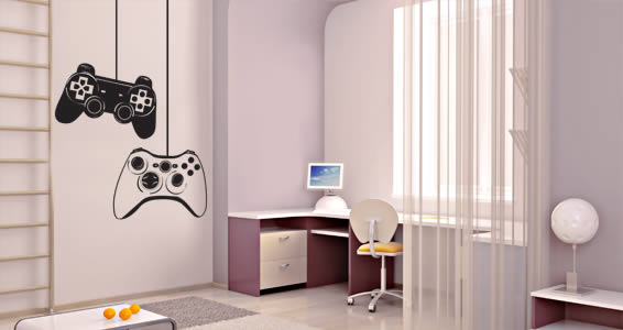 Game Controls wall decals