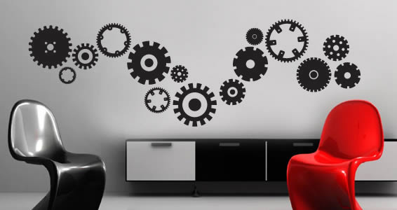 Mechanical Gears wall decal
