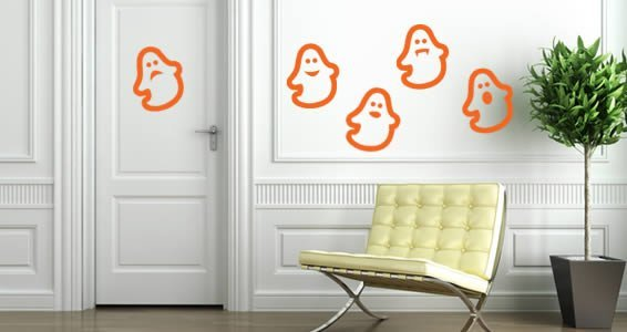 Ghost pack wall decals