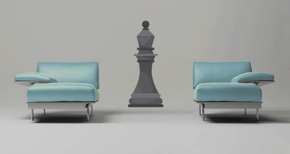Giant Chess Board Bishop decals