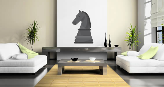 Giant Chess Horse decal