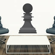 Giant Chess Pawn decals