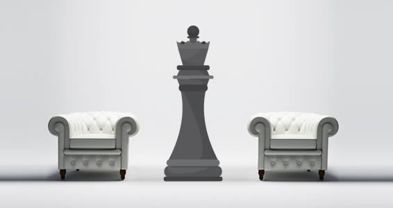 Giant Queen Chess wall decal
