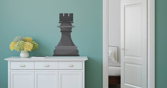 Giant Rook chess game wall decals