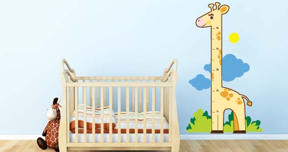 Giraffe (in & ft) nursery wall decals