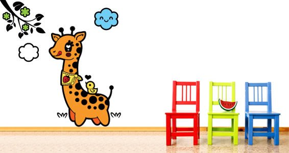 Giraffe wall decal by Charuca