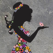 Girl In Bloom wall decal