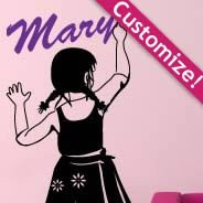 Personalized  Lettering Graffiti Girl wall decals