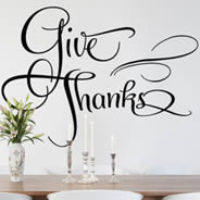 Give Thanks wall decals