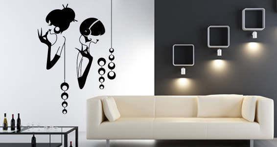 Black Wall Decals glamour girls wall decals | dezign with a z