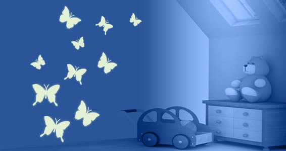 Glow In The Dark Butterfly Wall Decals Part 97