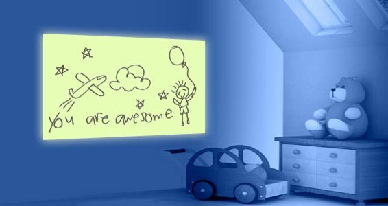 Dry Erase Glow in the Dark Wall Decal