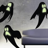 Ghosts glow in the dark wall decals