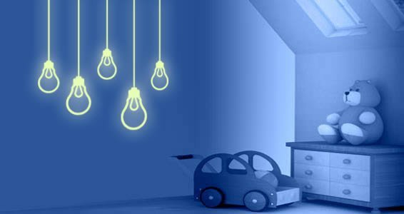 Light Bulbs Glow In The Dark Wall Decals Part 57