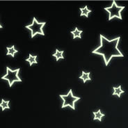 43 Neon Stars glow in the dark wall decals