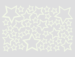 Glow in the dark stars wall decals