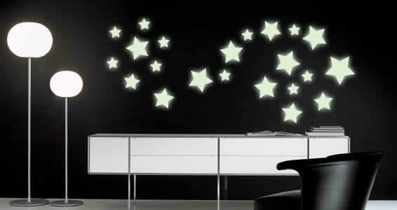 44 Shining Stars glow in the dark