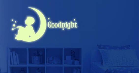 Moon Boy glow in the dark wall stickers