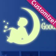 Moon Boy glow in the dark wall stickers