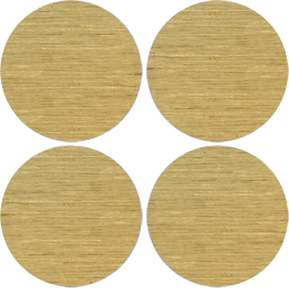 Gold Brushed Circles metal wall appliques