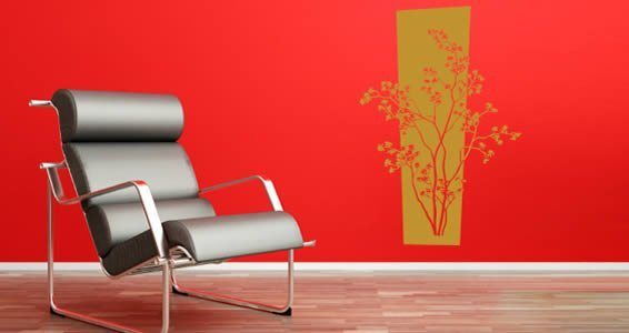 Gold Laurel wall decals