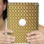 Gold Mosaic iPad decals skin