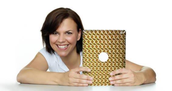Gold Mosaic iPad decals skin
