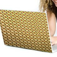 Gold Mosaic computers laptop decals skin