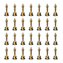 Golden Awards Step and Repeat dry erase decal