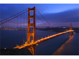 Golden Gate Night Lights photo on canvas