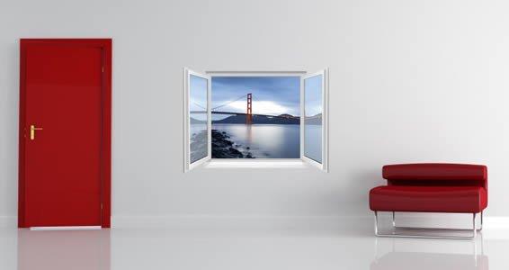 Golden Gate Bridge Fake Window