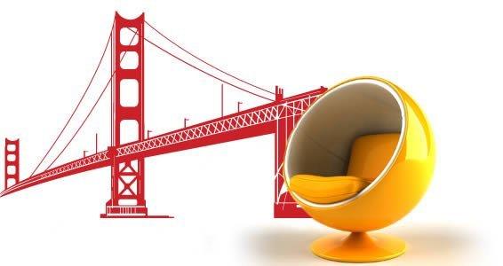 Golden Gate Bridge large wall decals