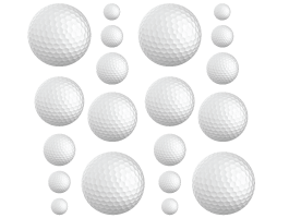 Golf Balls wall decals