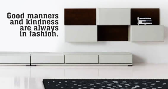 Good Manners wall quote decals