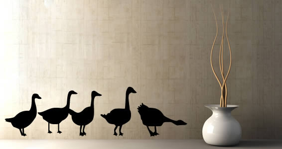 Goose wall decals