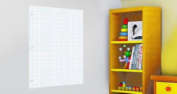 dry erase graph paper decals