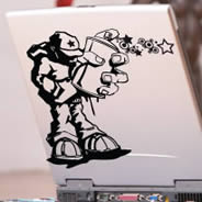 Tagger Wood Laptop stickers skin