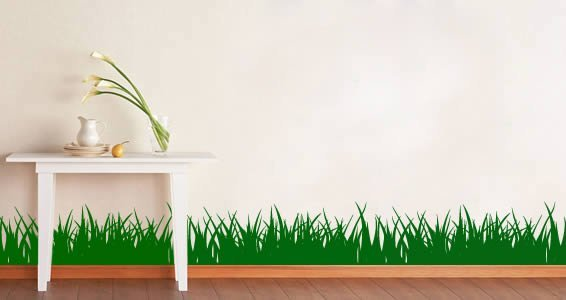 Grass wall decals