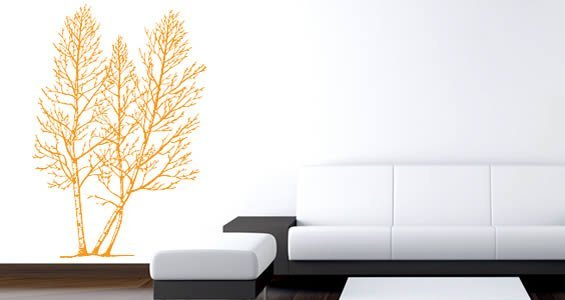 Gray Birch wall decals
