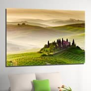 Green Fairy Fields digital canvas