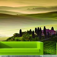 Green Fairy Fields wall mural