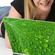Green Leaf laptop decals skin