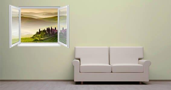 Green Fields Fake Window Murals